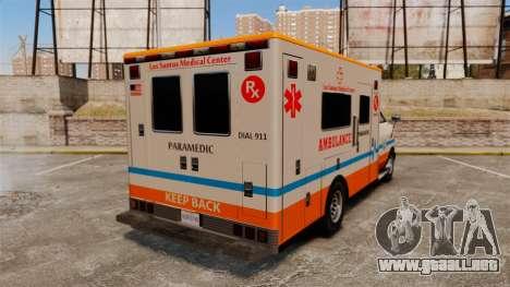 Brute LSMC Paramedic para GTA 4 Vista posterior izquierda
