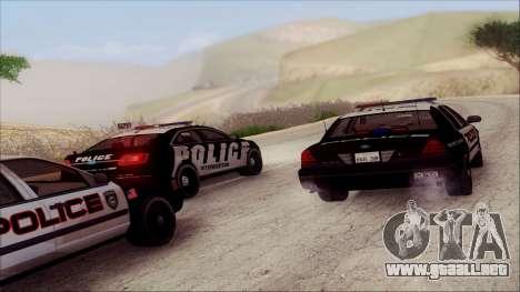 Ford Crown Victoria Police Interceptor para la vista superior GTA San Andreas