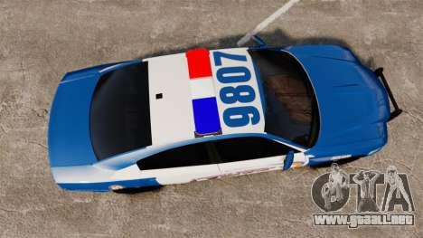 Dodge Charger 2013 Liberty County Police [ELS] para GTA 4 visión correcta