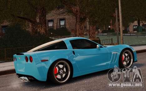 Chevrolet Corvette Grand Sport 2010 para GTA 4 left