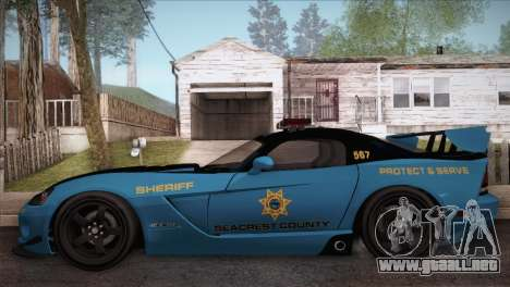 Dodge Viper SRT 10 ACR Police Car para GTA San Andreas left