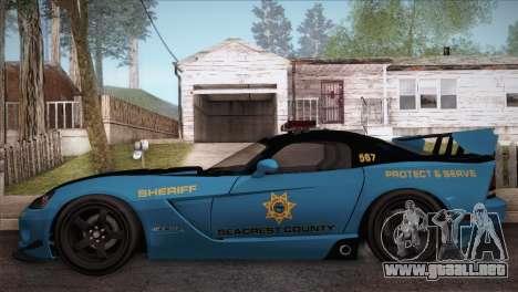Dodge Viper SRT 10 ACR Police Car para GTA San Andreas left