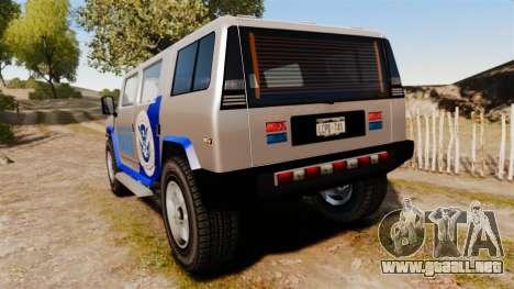 Patriot Police v2.0 para GTA 4 Vista posterior izquierda