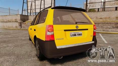 Volkswagen Parati G4 Track and Field 2013 para GTA 4 Vista posterior izquierda