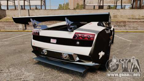 Lamborghini Gallardo LP560-4 GT3 2010 Flatex para GTA 4 Vista posterior izquierda
