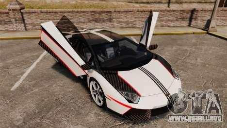 Lamborghini Aventador LP700-4 2012 Adidas Carbon para GTA 4 vista superior