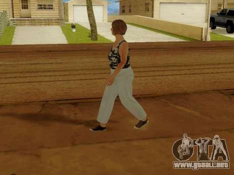 Una mujer de edad avanzada v.2 para GTA San Andreas quinta pantalla