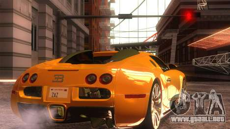 Bugatti Veyron 2009 para GTA San Andreas left