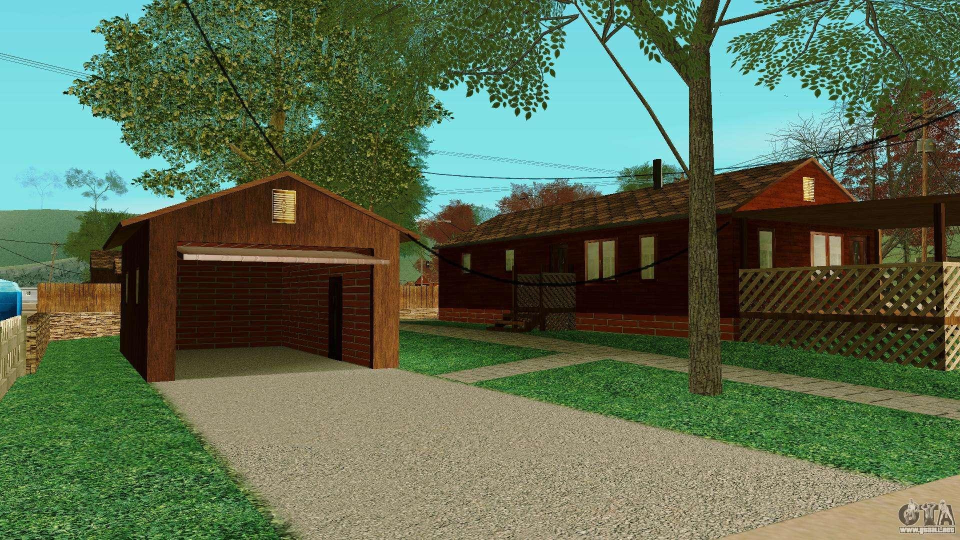 Una casa en el pueblo para gta san andreas for Casa moderna gta sa