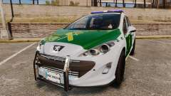 Peugeot 308 GTi 2011 Guardia Civil para GTA 4