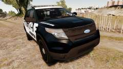 Ford Explorer 2013 Police Interceptor [ELS] para GTA 4