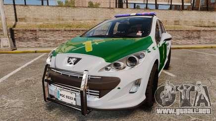 Peugeot 308 GTi 2011 Guardia Civil para GTA 4