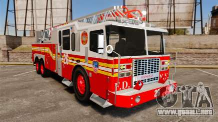 Ferrara 100 Aerial Ladder FDNY [working ladder] para GTA 4