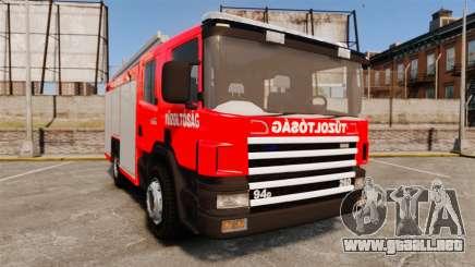 Húngaro camión de bomberos [ELS] para GTA 4
