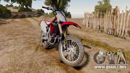 Kawasaki KX250F (Honda CRF450) para GTA 4