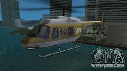 Helicóptero de la policía de GTA VCS para GTA Vice City