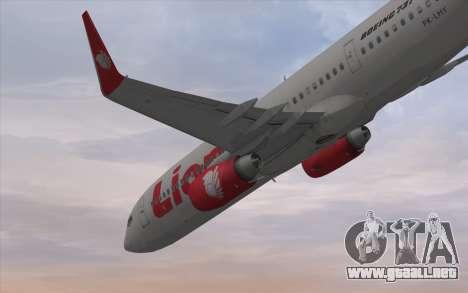 Lion Air Boeing 737 - 900ER para la visión correcta GTA San Andreas