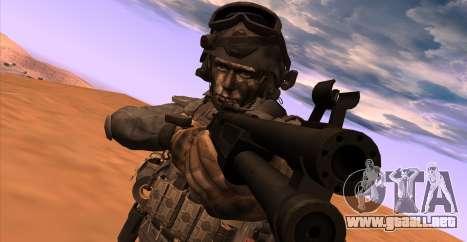 Teniente David Hesh Walker из De Call of Duty: G para GTA San Andreas sucesivamente de pantalla