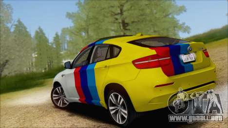 BMW X6M E71 2013 300M Wheels para vista inferior GTA San Andreas