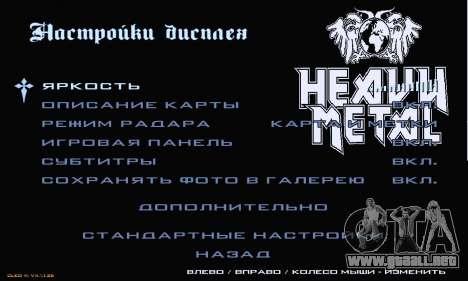 Heavy Metal Menu V.1 para GTA San Andreas séptima pantalla