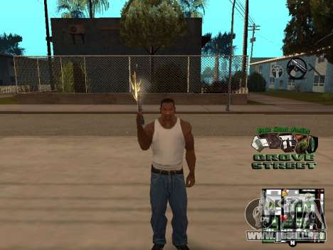 С-HUD Grove Street para GTA San Andreas sucesivamente de pantalla