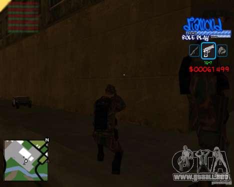 C-Hud Diamond RP para GTA San Andreas sucesivamente de pantalla