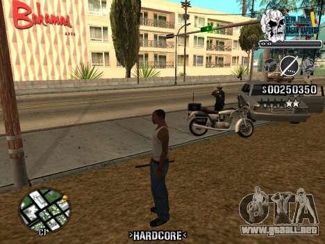 C-HUD Hardcore By KD para GTA San Andreas séptima pantalla
