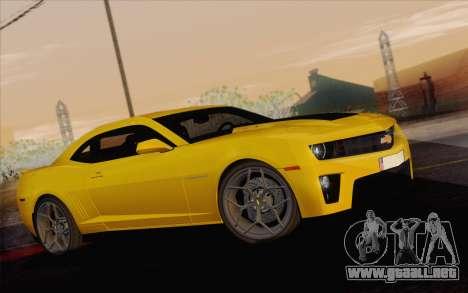 Chevrolet Camaro ZL1 2011 para la visión correcta GTA San Andreas