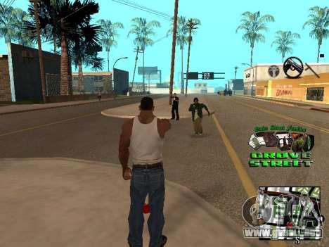 С-HUD Grove Street para GTA San Andreas segunda pantalla