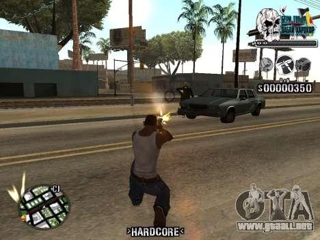 C-HUD Hardcore By KD para GTA San Andreas quinta pantalla