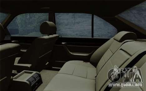 BMW 540i (E34) para vista inferior GTA San Andreas