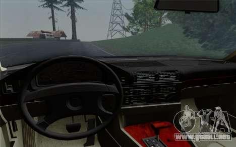 BMW 540i (E34) para la vista superior GTA San Andreas