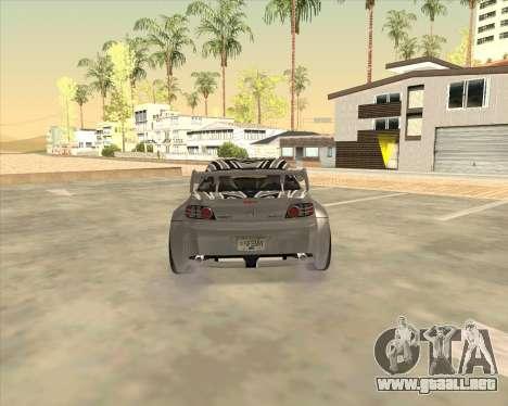 Mazda RX 8 из NFS most Wanted para GTA San Andreas vista posterior izquierda