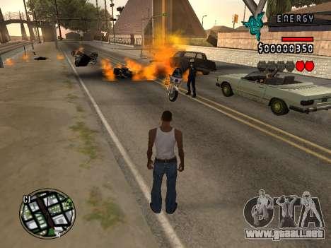C-HUD Energy para GTA San Andreas quinta pantalla