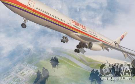 Airbus A340-300 China Eastern para vista inferior GTA San Andreas