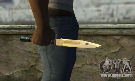 Golden Knife para GTA San Andreas tercera pantalla