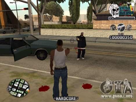 C-HUD Hardcore By KD para GTA San Andreas segunda pantalla