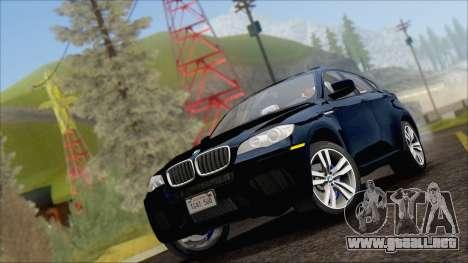 BMW X6M E71 2013 300M Wheels para GTA San Andreas vista posterior izquierda