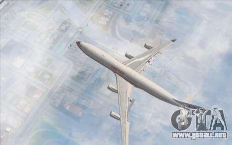 Airbus A340-300 China Eastern para GTA San Andreas vista posterior izquierda