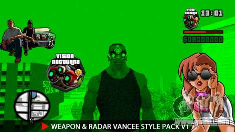 Weapon & Radar VanCee Style Pack v1 para GTA San Andreas twelth pantalla