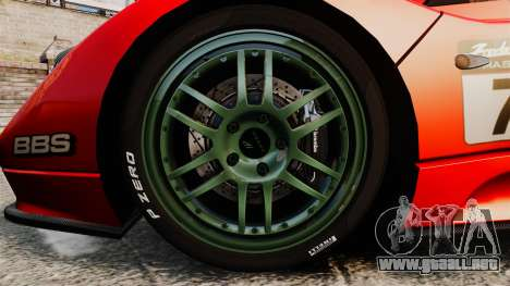 Pagani Zonda C12 S Roadster 2001 PJ6 para GTA 4 vista hacia atrás