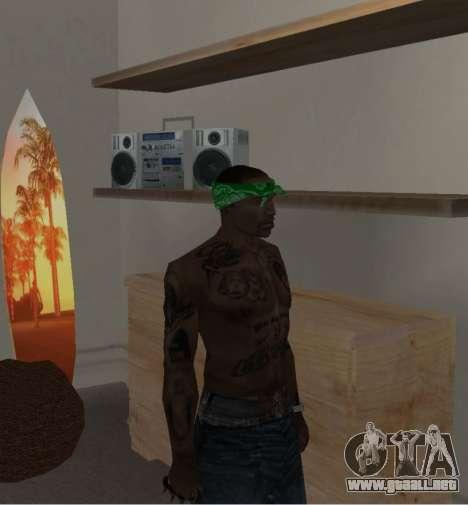 Nueva bandanas para CJ para GTA San Andreas séptima pantalla