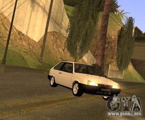 ВАЗ 2108 GVR Versión 2.0 para GTA San Andreas vista posterior izquierda