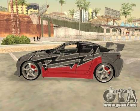 Mazda RX 8 из NFS most Wanted para GTA San Andreas left