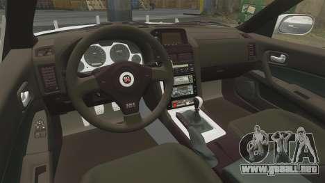 Nissan Skyline GT-R R34 Saitama Police para GTA 4 vista lateral