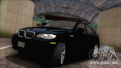 BMW X6M E71 2013 300M Wheels para visión interna GTA San Andreas