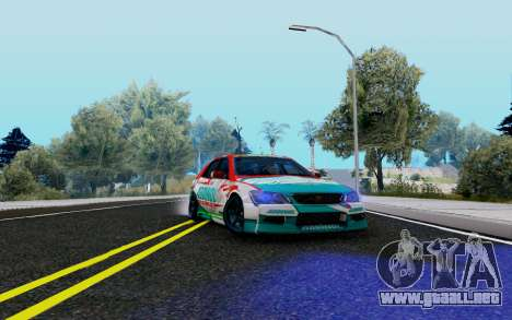 Toyota Altezza Addinol para GTA San Andreas vista hacia atrás
