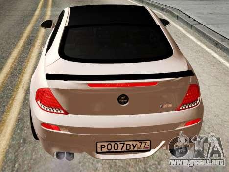 BMW M6 Hamann para la visión correcta GTA San Andreas