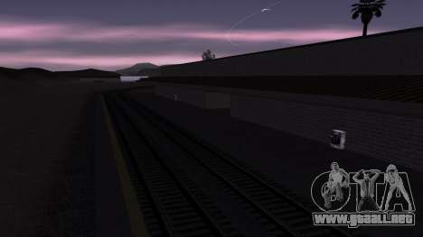 Nuevas texturas de la Estación de tren en Las Ve para GTA San Andreas sucesivamente de pantalla