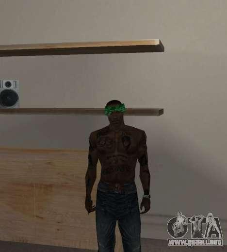 Nueva bandanas para CJ para GTA San Andreas quinta pantalla